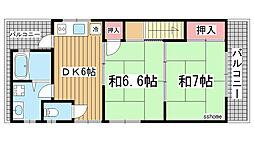 [一戸建] 兵庫県神戸市灘区下河原通3丁目 の賃貸【/】の間取り