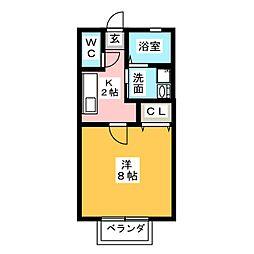ハイネス小豆餅[1階]の間取り