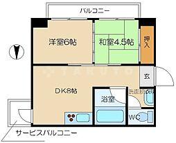 豊崎レジデンス[5階]の間取り