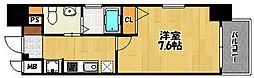 ローズモント・フレア天神南[5階]の間取り