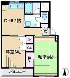 ドエル千駄木[4階]の間取り