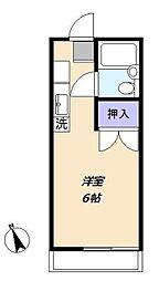 サンハイツ松嶋[105号室]の間取り