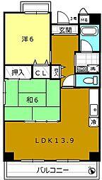 大阪府堺市堺区神明町西3丁の賃貸マンションの間取り