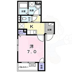 JR東海道・山陽本線 甲子園口駅 徒歩5分の賃貸マンション 1階1Kの間取り