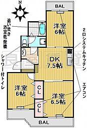 愛知県名古屋市千種区光が丘1丁目の賃貸マンションの間取り