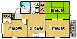 兵庫県明石市旭が丘の賃貸アパートの間取り