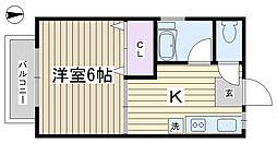 木村コーポ[101号室]の間取り