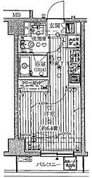 プレール・ドゥーク高輪[203号室]の間取り