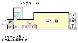 ウノ・アンビエンテ湊川[706号室]の間取り