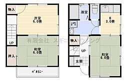[テラスハウス] 神奈川県平塚市西八幡3丁目 の賃貸【/】の間取り