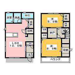 [一戸建] 静岡県静岡市駿河区西脇 の賃貸【/】の間取り