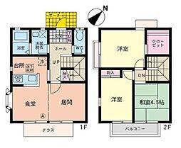 [テラスハウス] 神奈川県横浜市都筑区仲町台2丁目 の賃貸【/】の間取り