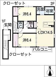 ストラトスシラトリ[2階]の間取り