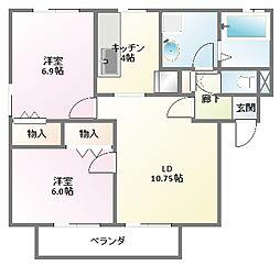 [タウンハウス] 兵庫県神戸市西区水谷2丁目 の賃貸【兵庫県 / 神戸市西区】の間取り