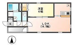 グランレーヴ金山II[1階]の間取り