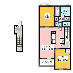 ひまわりI[2階]の間取り