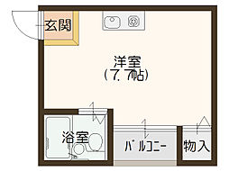 千代崎ハイツ[4階]の間取り