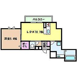JR東海道・山陽本線 六甲道駅 徒歩5分の賃貸マンション 1階1LDKの間取り