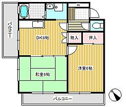 栗原マンション[2階]の間取り