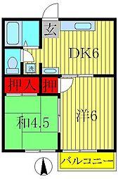 第2ドリームコーポ[2階]の間取り