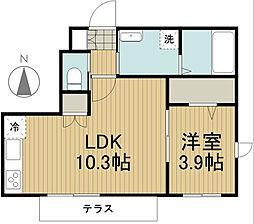東京都西東京市新町2丁目の賃貸マンションの間取り