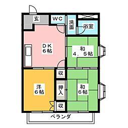 ハイツラ・セーヌ[2階]の間取り