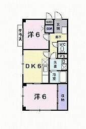 兵庫県西宮市段上町5丁目の賃貸マンションの間取り
