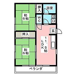 グレイス鴻之台1号館[2階]の間取り