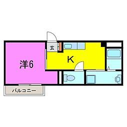 大府市 武藤荘[101号室]の間取り