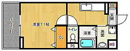 JR東海道・山陽本線 長岡京駅 徒歩7分の賃貸アパート 1階1Kの間取り
