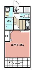 エンクレスト福岡(406)[406号室]の間取り