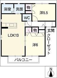 Court Azelia G棟[2階]の間取り