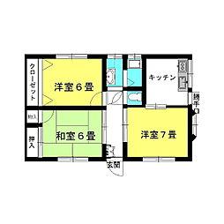 [一戸建] 茨城県神栖市神栖1丁目 の賃貸【/】の間取り