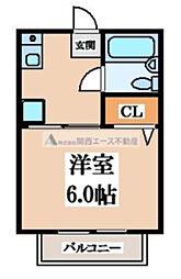 ソレイユ阪奈[1階]の間取り