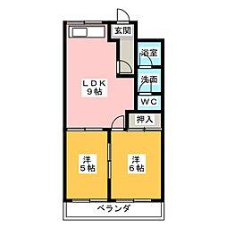 ヤマダハイツ[2階]の間取り
