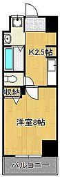 LE GRAND BLEU QUATRE 9階1Kの間取り
