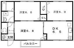 新潟県新潟市中央区鐙西1丁目の賃貸アパートの間取り