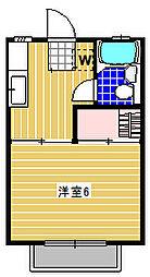 ホワイトコート八景[104号室]の間取り