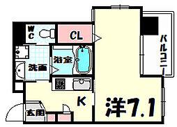 W.O.B.SHINKOBE[2階]の間取り