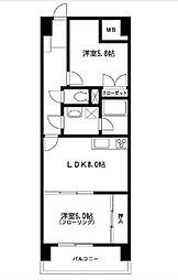 第2サンライト東口ビル[6階]の間取り