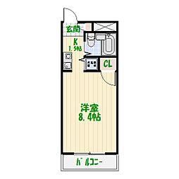 グリーンプラザ東綾瀬III[305号室]の間取り