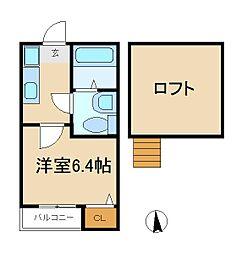 千葉県松戸市古ケ崎2丁目の賃貸アパートの間取り