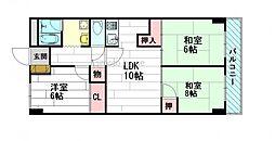 ブリックハイツ江坂[4階]の間取り