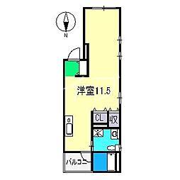ル・シエル・ブルー[2階]の間取り