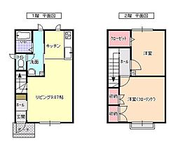 北海道滝川市緑町2丁目の賃貸アパートの間取り