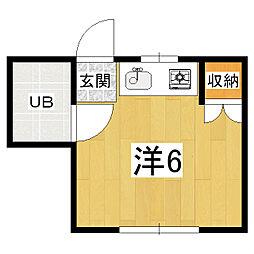 ハイツKOTOBUKI[3階]の間取り