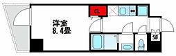 小田急小田原線 千歳船橋駅 徒歩12分の賃貸マンション 7階1Kの間取り
