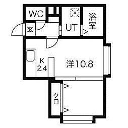エスパシオファイン[4階]の間取り