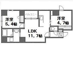 東十字街マンション[3階]の間取り