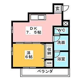 オーシャンハイツ栄[8階]の間取り